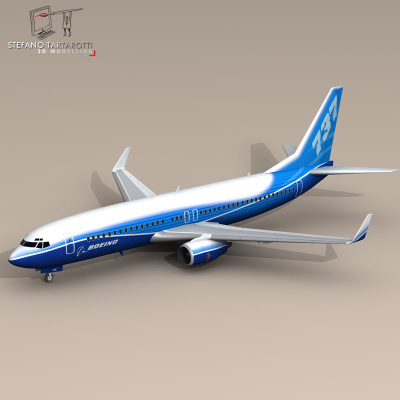 boeing 737-800 3d model 3ds dxf c4d obj 94888