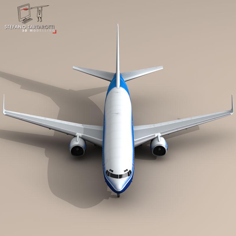 boeing 737-800 3d model 3ds dxf c4d obj 94889