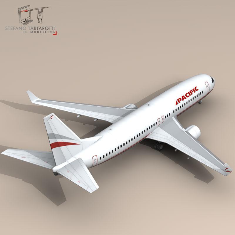 boeing 737-800 3d model 3ds dxf c4d obj 94890