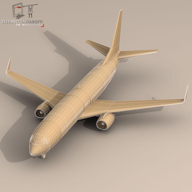 boeing 737-800 3d model 3ds dxf c4d obj 94891