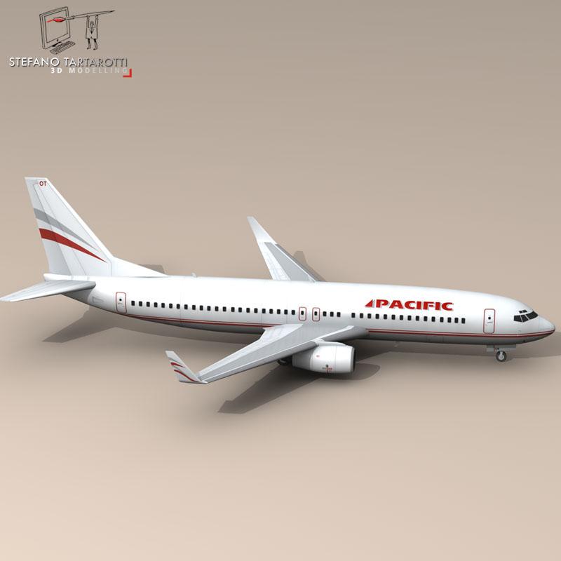boeing 737-800 3d model 3ds dxf c4d obj 94892