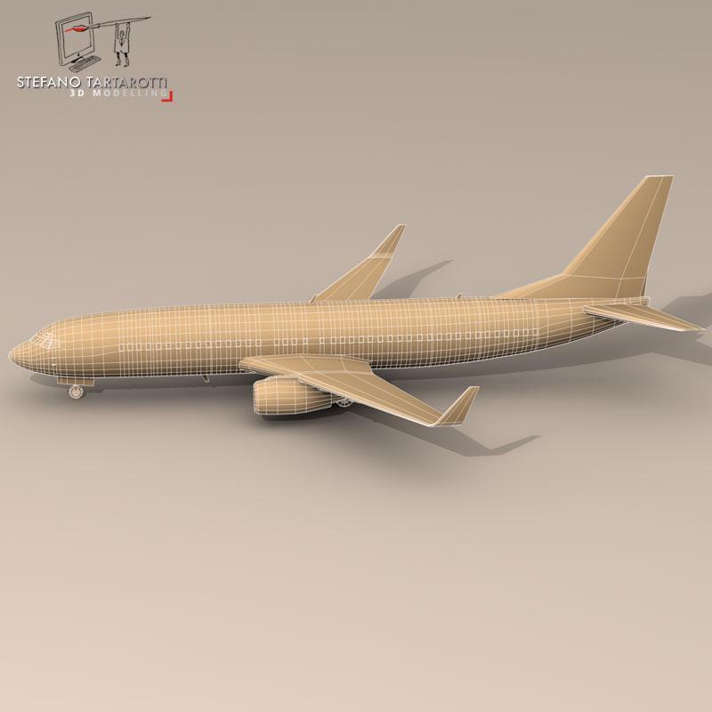 boeing 737-800 3d model 3ds dxf c4d obj 94893