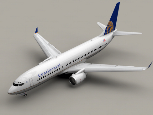 boeing 737-800 continental airlines 3d model 3ds max lwo obj 114025