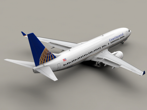 boeing 737-800 continental airlines 3d model 3ds max lwo obj 114026