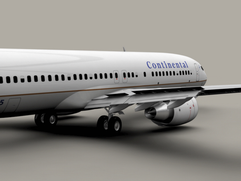 boeing 737-800 continental airlines 3d model 3ds max lwo obj 114027