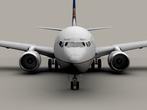 boeing 737-800 continental airlines 3d model 3ds max lwo obj 114028