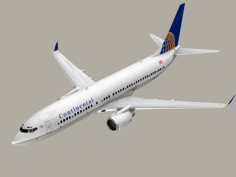boeing 737-800 continental airlines 3d model 3ds max lwo obj 114031