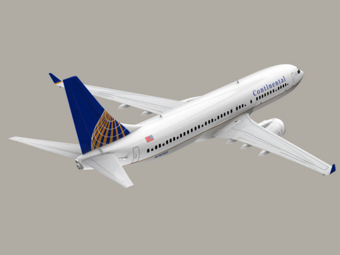 boeing 737-800 continental airlines 3d model 3ds max lwo obj 114032