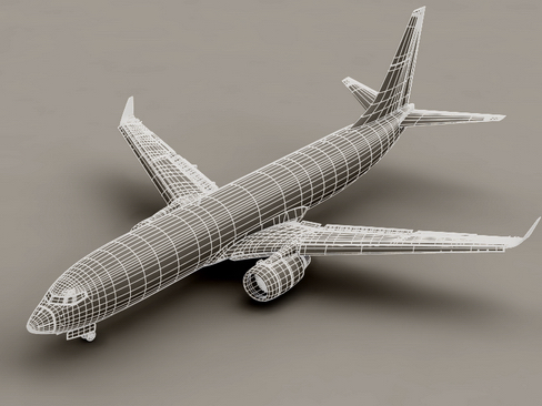 boeing 737-800 continental airlines 3d model 3ds max lwo obj 114033