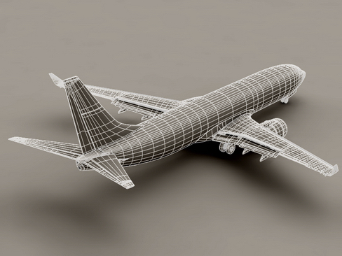 boeing 737-800 continental airlines 3d model 3ds max lwo obj 114034