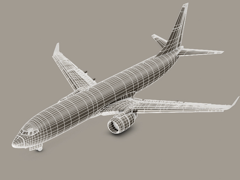 boeing 737-800 continental airlines 3d model 3ds max lwo obj 114039