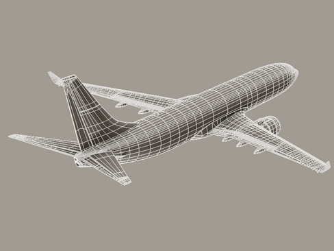 boeing 737-800 continental airlines 3d model 3ds max lwo obj 114040