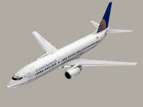 boeing 737-800 continental airlines 3d model 3ds max lwo obj 114043