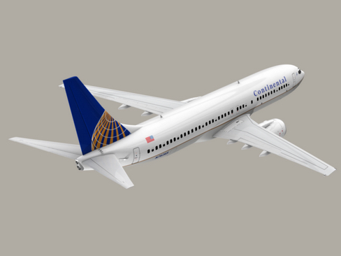 boeing 737-800 continental airlines 3d model 3ds max lwo obj 114044