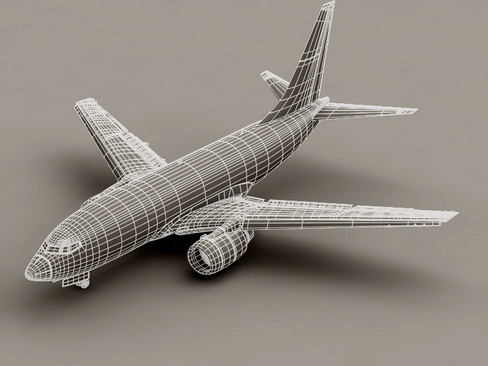 boeing 737-800 continental airlines 3d model 3ds max lwo obj 114045