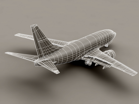 boeing 737-800 continental airlines 3d model 3ds max lwo obj 114046