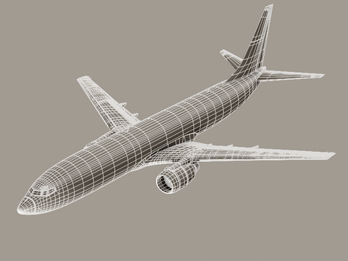boeing 737-800 continental airlines 3d model 3ds max lwo obj 114047