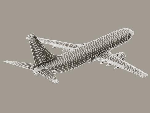 boeing 737-800 continental airlines 3d model 3ds max lwo obj 114048