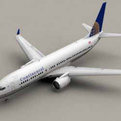 Boeing 737-800 Continental Airlines ( 119.64KB jpg by Behr_Bros. )
