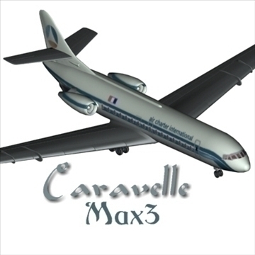 sud aviation caravelle 3d model max 96124