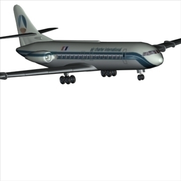 sud aviation caravelle 3d model max 96125