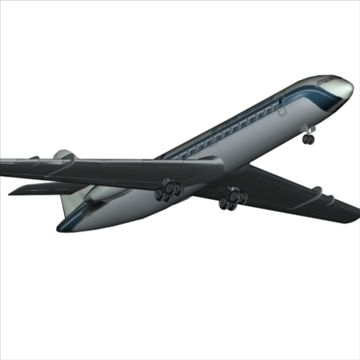 sud aviation caravelle 3d model max 96126