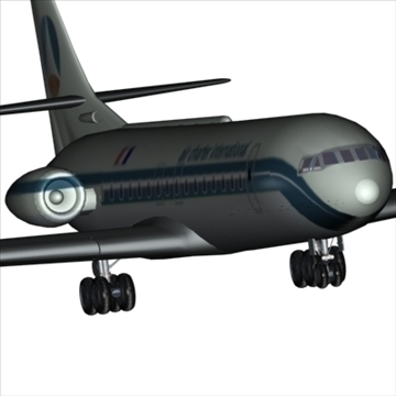 sud aviation caravelle 3d model max 96127