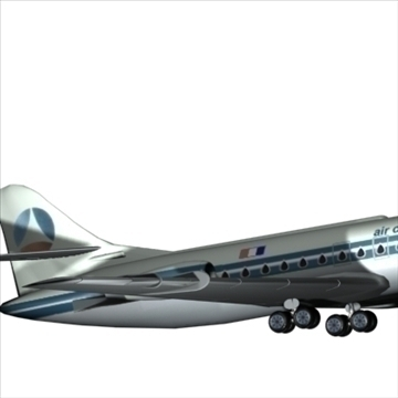 sud aviation caravelle 3d model max 96128
