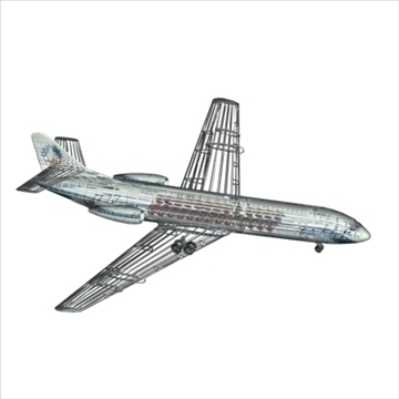 sud aviation caravelle 3d model max 96130