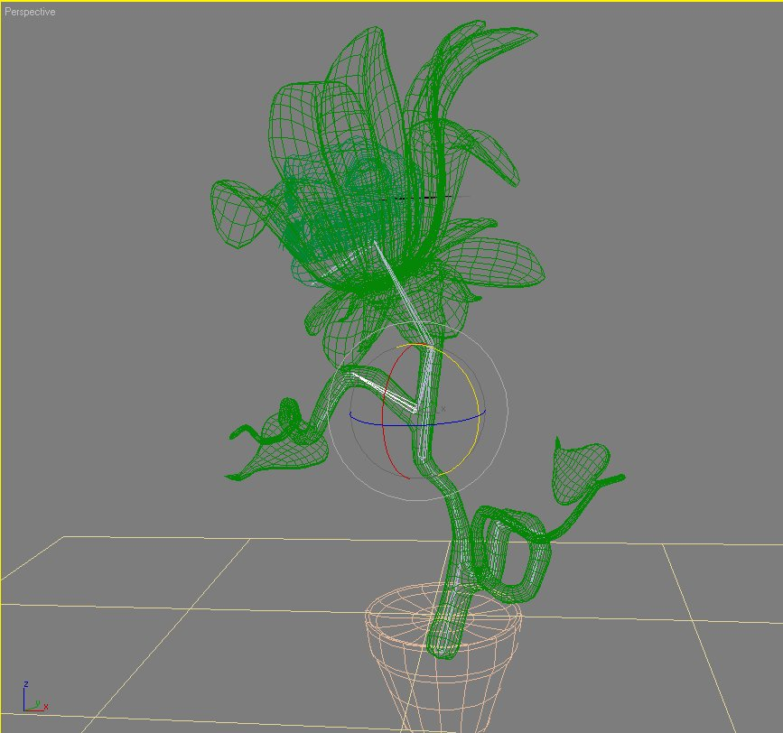 carnivorous plant character rigged 3d model 3ds max fbx lwo obj 121008