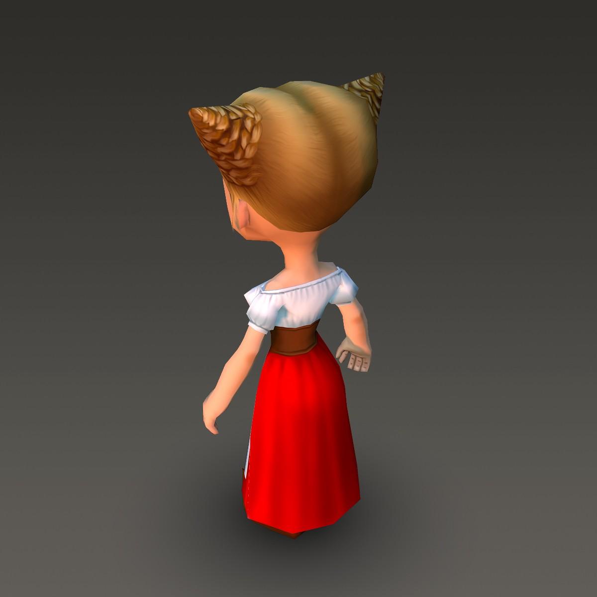 хүүхэлдэйн киноны иргэний эмэгтэй 3d загвар xnUMX