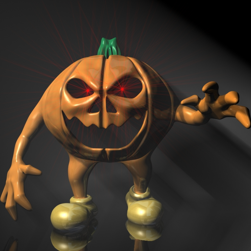 halloween jack o lantern character rigged 3d model 3ds max fbx lwo obj 119485