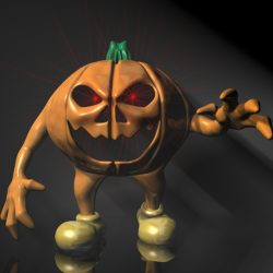 Halloween Jack O Lantern Character Rigged ( 258.55KB jpg by supercigale )