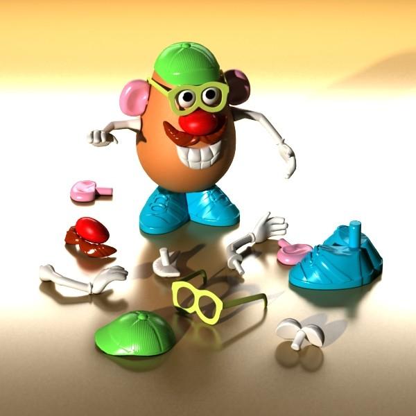 mister potato head toy 3d model 3ds max fbx obj 129501