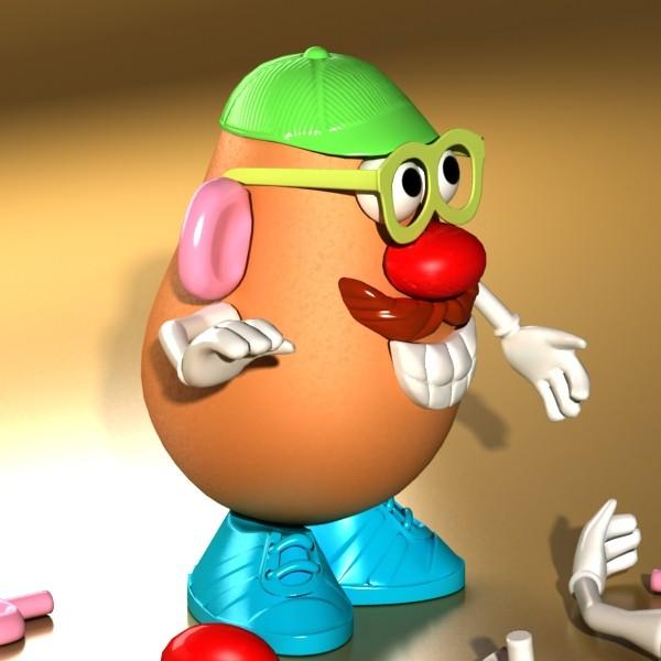 mister potato head toy 3d model 3ds max fbx obj 129502