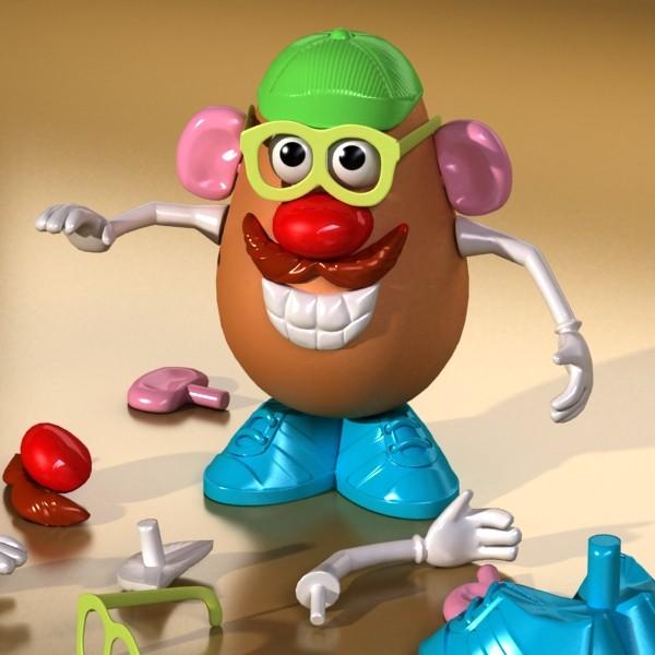 mister potato head toy 3d model 3ds max fbx obj 129503
