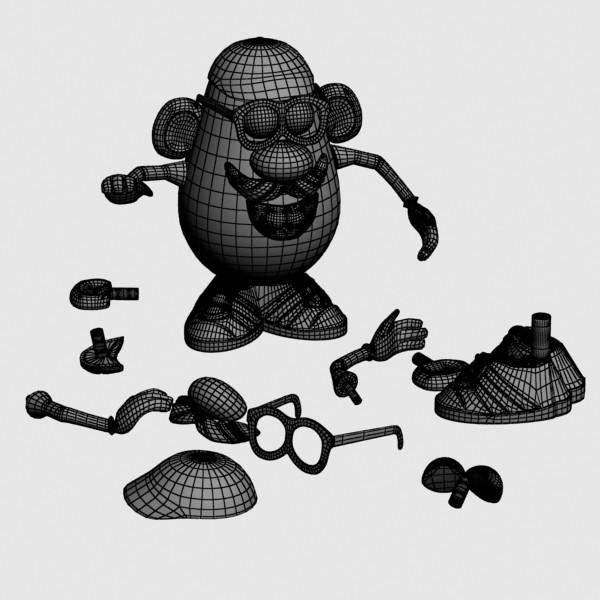 mister potato head toy 3d model 3ds max fbx obj 129507