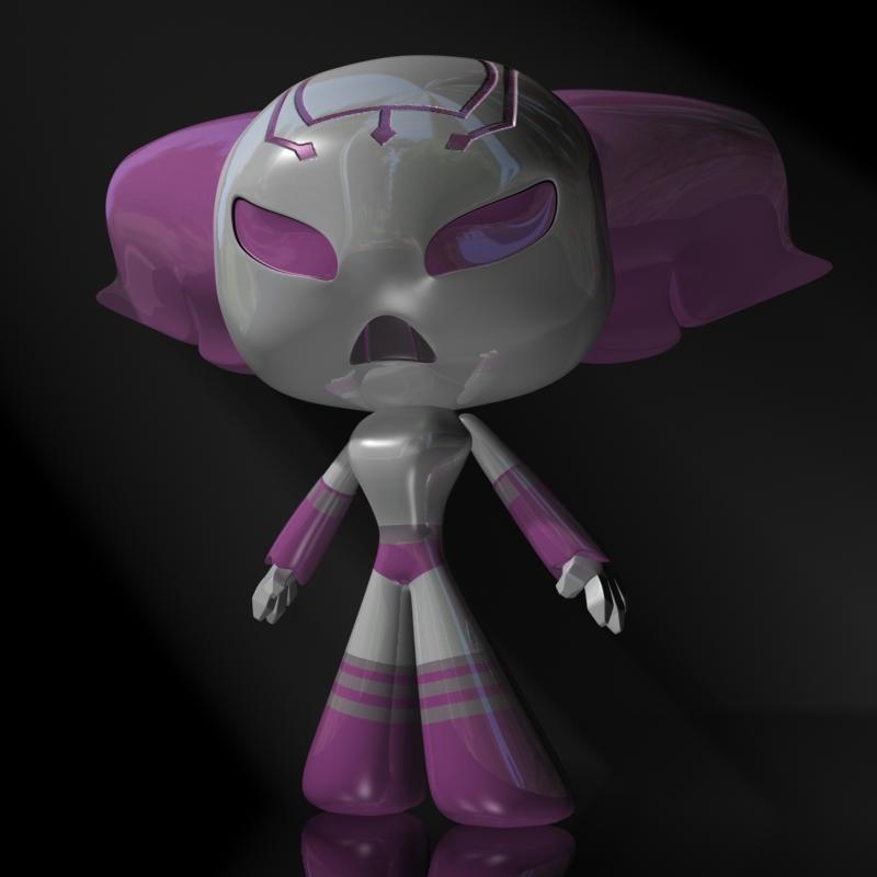 protogirl watak robot perempuan 3d model 3ds max dxf fbx lwo obj 124378