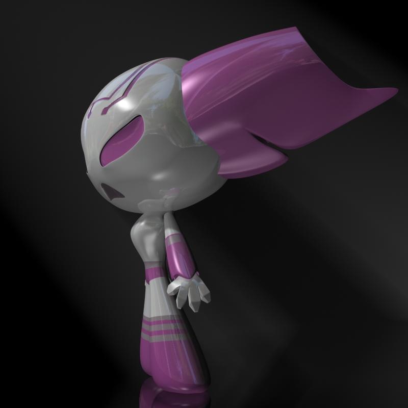 protogirl watak robot perempuan 3d model 3ds max dxf fbx lwo obj 124379