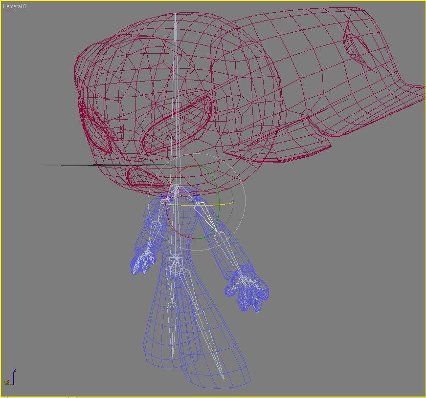 protogirl watak robot perempuan 3d model 3ds max dxf fbx lwo obj 124381