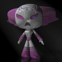 ProtoGirl Robot Character Female RIGGED ( 193.45KB jpg by supercigale )