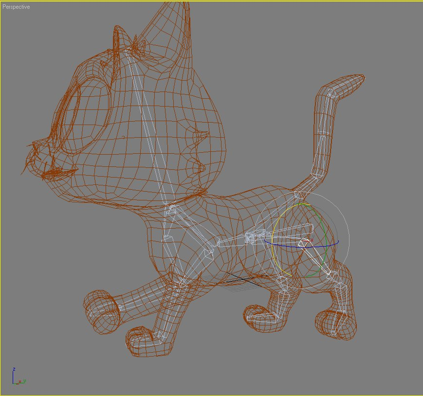 baby cat rigged 3d model 3ds max fbx lwo obj 129020