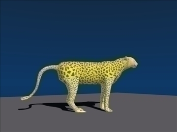 cheetah (cats) 3d model blend lwo obj 106210