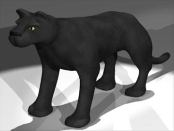panther 3d model 3ds dxf lwo 80693