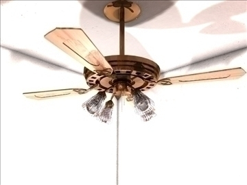 ceiling fan 3d model 3ds c4d texture 109111