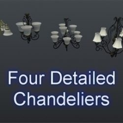 Chandelier Set 001 ( 48.43KB jpg by Asephei )