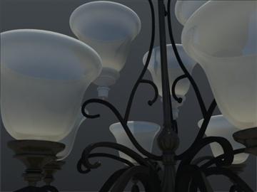 devet svjetla uf tradicionalni luster 3d model 3ds max ma mb 102148