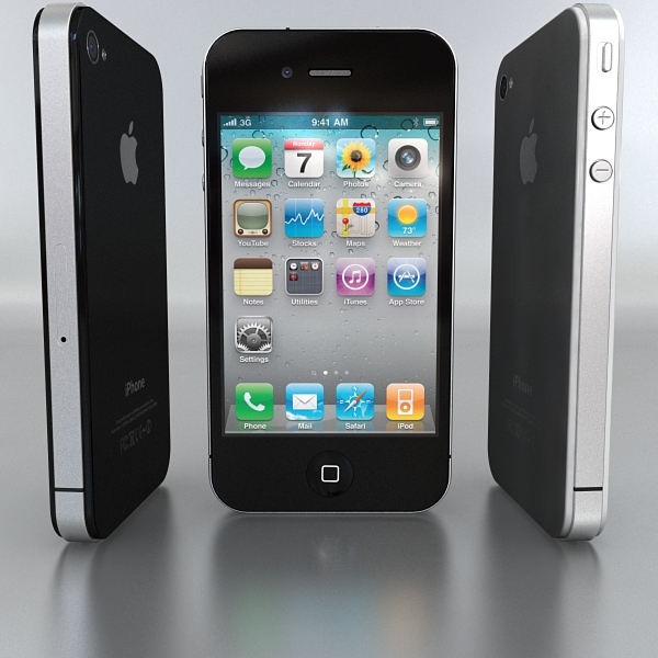 apple iphone 4g 3d model 3ds max fbx c4d mb mbar 112483