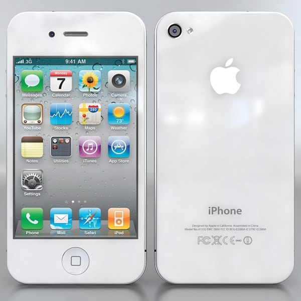 apple iphone 4g 3d model 3ds max fbx c4d ma mb obj 112485