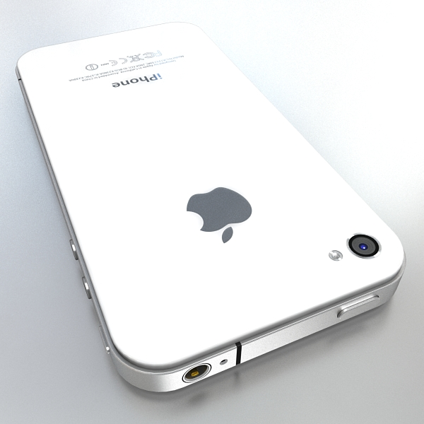 apple iphone 4g 3d model 3ds max fbx c4d ma mb obj 112489